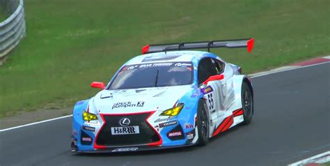lexus racing car lexus rc f gt3 makes nurburgring debut in vln race sounds