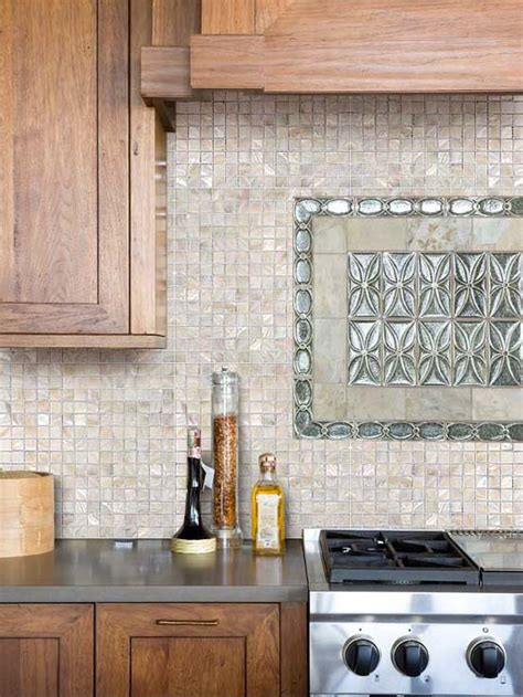 1 quot x 1 quot of pearl shell tile kitchen