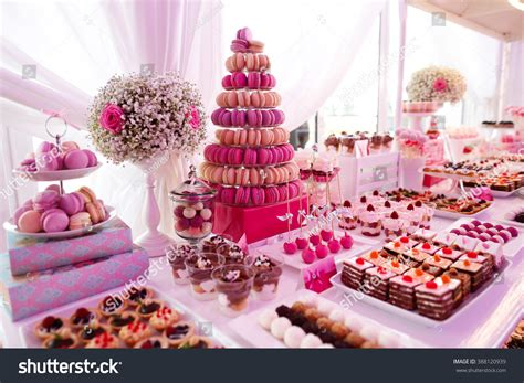 Delicious Sweets On Candy Buffet Stock Photo 388120939
