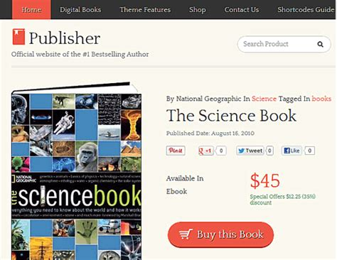 themes in the book sold publisher theme sell books using wordpress practical wp