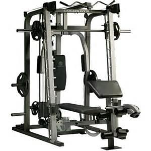 gold gym bench set 625 gold s gym platinum smith machine rack bench set