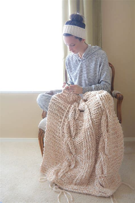 easy afghan knitting patterns endless cables chunky knit throw pattern in a stitch