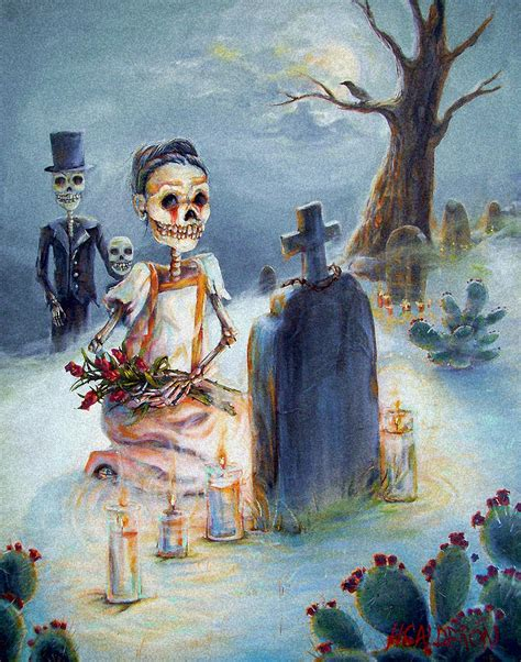 calderon the painter of grave sight painting by heather calderon