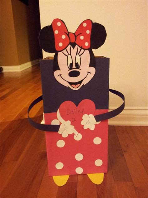 minnie mouse valentines minnie mouse valentines box made from a shoebox sized