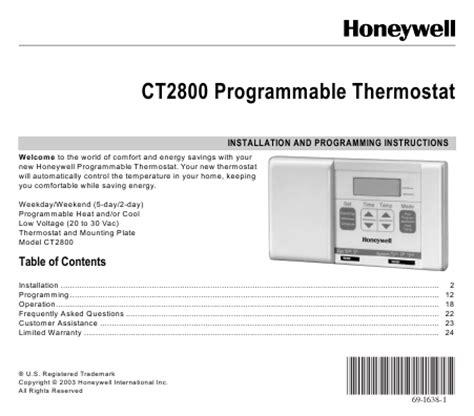 Honeywell Help Desk by Rth230b Programming
