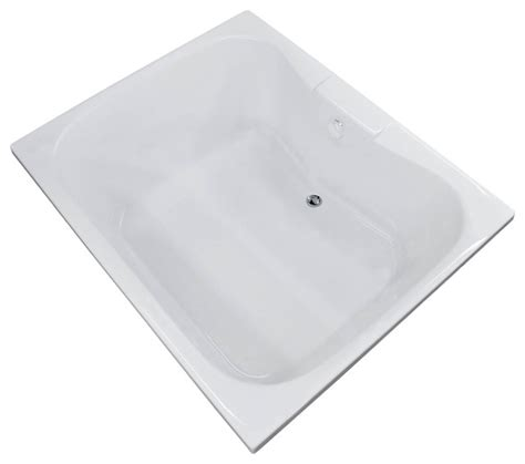 center drain bathtub veronesse 48 x 60 rectangular soaker drop in bathtub tub