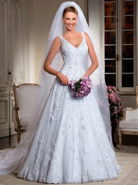 Wedding Hair Dress With Straps by 7 Vestidos De Noiva Para Mulheres Quadril Largo As