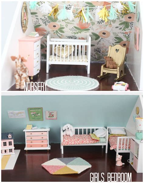 nursery in bedroom diy dollhouse the bedroom and nursery