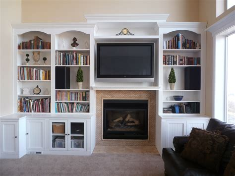 bookshelves with storage built in fireplace living room shelves with white wooden