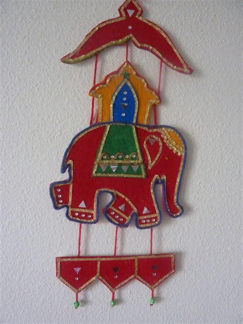 Indian Handmade Crafts - felt wall hanging indian elephant