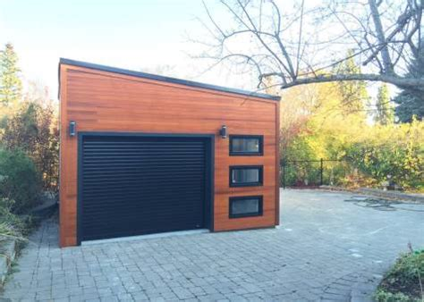 urban garage garage design   planed cedar channel