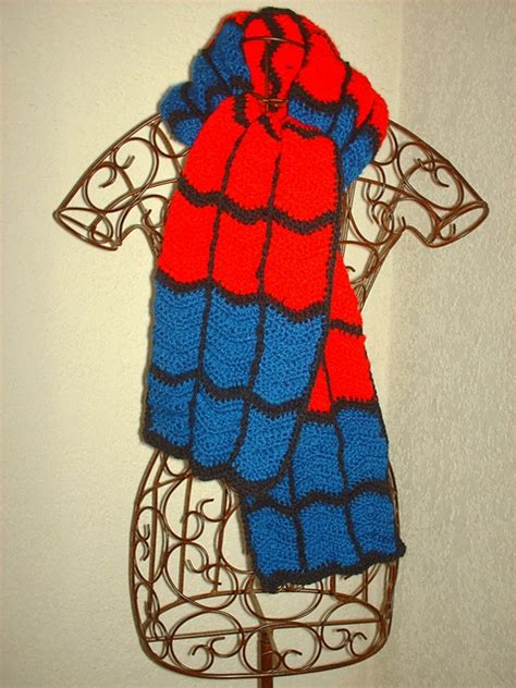 crochet pattern for spiderman scarf ravelry devilgaby s spiderman scarf crochet scarves