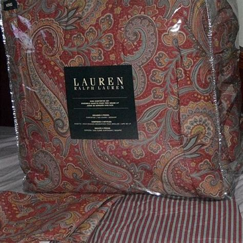 ralph lauren king size comforter set buy ralph lauren king comforter set pirouette red paisley