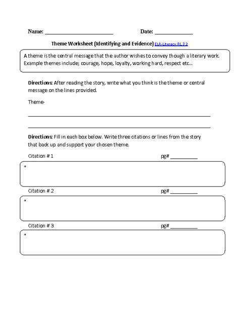 theme quiz 3rd grade 3rd grade common core reading literature worksheets