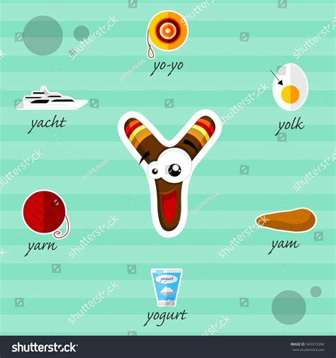 5 Letter Words Vector letter y words stock vector 545372392