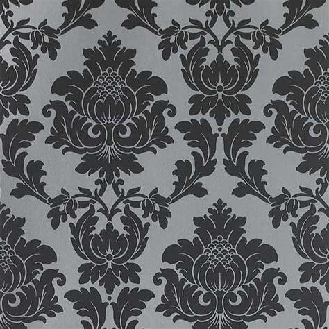 black and white flock wallpaper b q hd wallpaper uk damask wallpaper uk