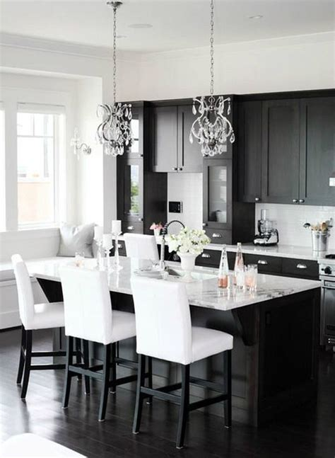 Black White Kitchen | one color fits most black kitchen cabinets