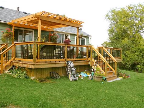 how to repair a free standing deck and pergolas