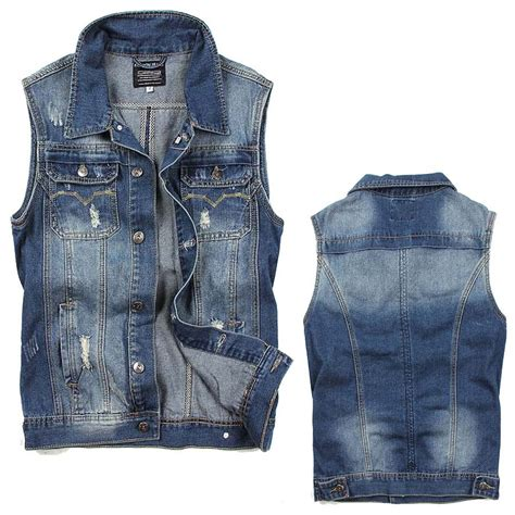 S Casual Regular Outdoor Jackets Denim Jackets With armless jean jacket jacket to