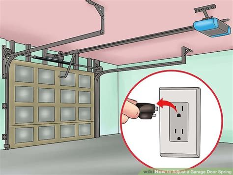 how to adjust springs on garage door how to adjust a garage door with pictures wikihow