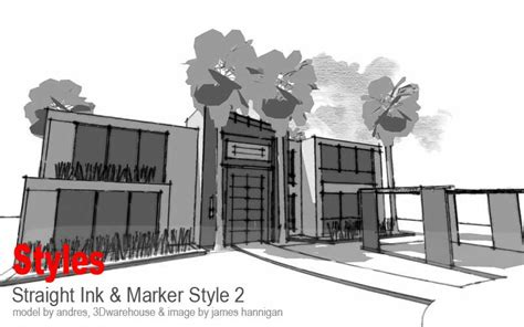 tutorial sketchup style builder styles collection 2010 sketchup 3d rendering tutorials