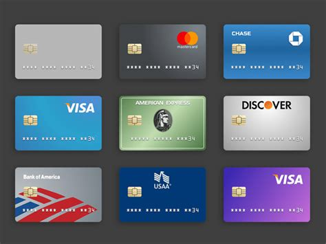 American Express Card Template Psd 25 generic flat credit card icons vector png commercial use