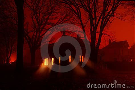 windows fogging up in house haunted house in red fog stock photo image 7365870