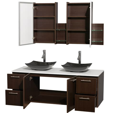 amare 60 inch double bathroom vanity glossy white finish