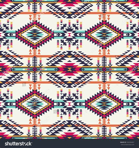 navajo colors retro colors tribal vector seamless navajo stock vector