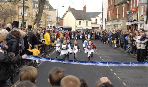 olney pancake race page   shrove tuesday  year  ladies  olney buckinghamshire