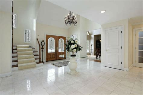 Rectangular Crystal Chandeliers 47 Entryway And Foyer Design Ideas Picture Gallery