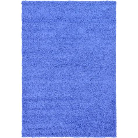 periwinkle rug unique loom solid shag periwinkle blue 6 ft x 9 ft area rug 3127834 the home depot