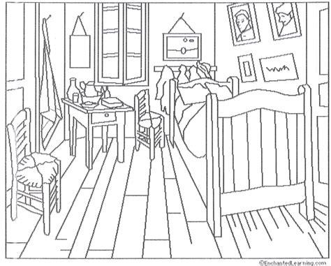 colorare la da letto ciao bambini coloring gogh la da letto