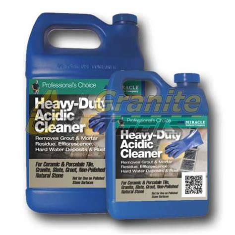 miracle sealants heavy duty acid cleaner usa granite tools