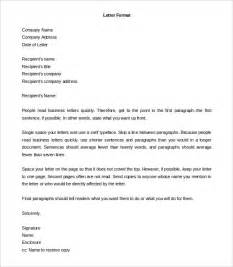 Letter Format Doc Formal Letter Template 30 Free Word Pdf Documents