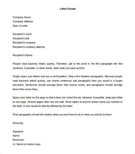 word form letter template formal letter template 30 free word pdf documents