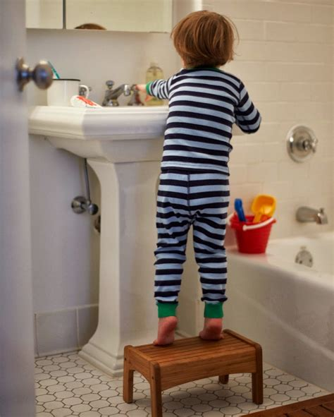 kids bathroom stool motherhood mondays brushing kids teeth a cup of jo