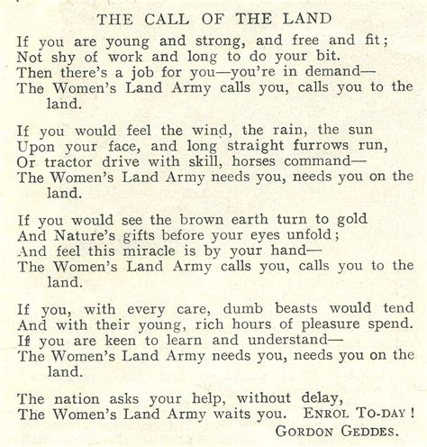 ww poem  call   land recruitment poem womens land armycouk