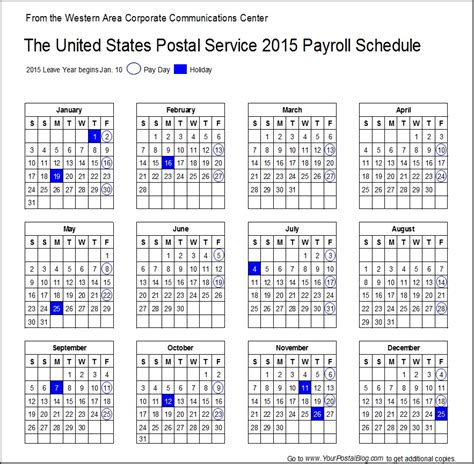 2015 Payroll Calendar 2015 Postal Monthly Calendar Autos Post