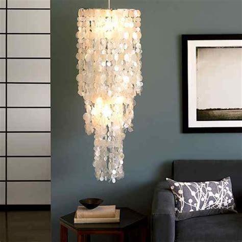 capiz home decor home dzine home decor make a capiz chandelier with wax paper