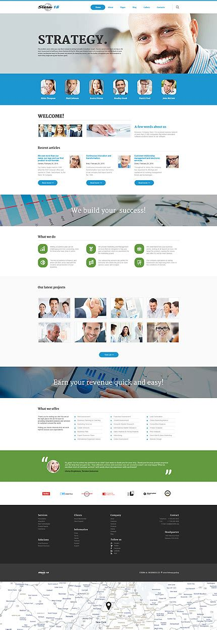 joomla templates for asp net stern 18 responsive joomla template with blog gallery