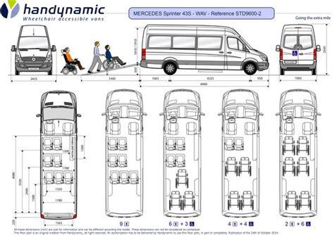 mercedes sprinter floor plan mercedes sprinter 43s wav with 6 wheelchair accesses