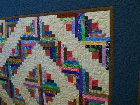 Log Cabin Patchwork - scrappy log cabin patchwork quilt by pokesallet on etsy
