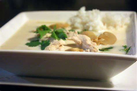 cuisine thailandaise poulet recette tom khar soupe tha 239 landaise de poulet 224 la