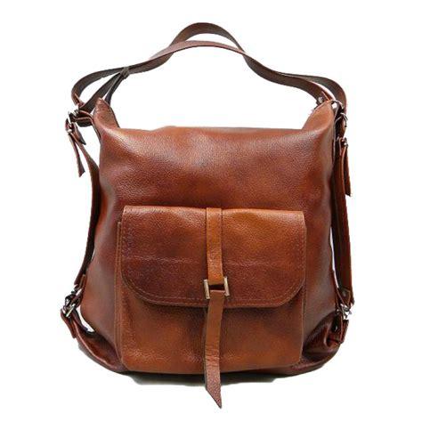 Handmade Leather Backpack - a01 backpack shoulder bag 2in1 genuine leather