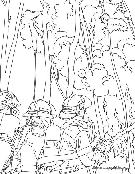 firemen fighting tree fire coloring pages hellokids com