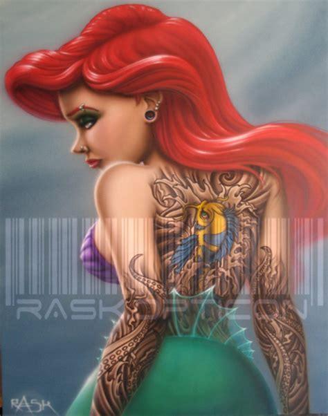 ariel with tattoos ariel tattoos popular designs