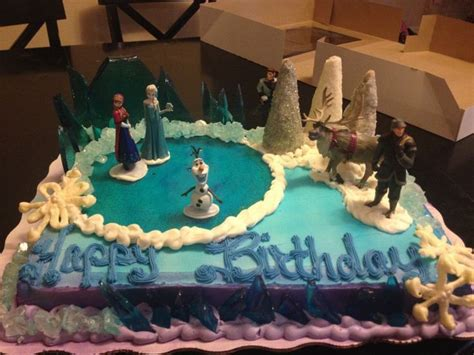 disneys frozen ice cream cakes frozen birthday cake  walmart party ideas   frozen