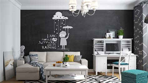 chalkboard in living room 20 chalkboard walls and decors in the living room home design lover