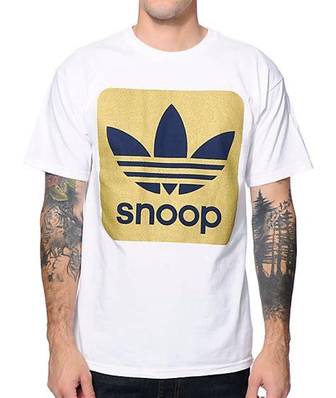 Tshirt Adidas Snoop adidas x snoop white gold foil t shirt zumiez